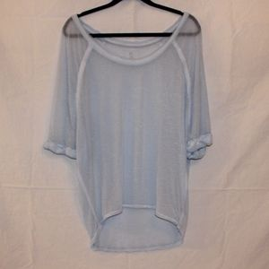 We The Free Light Blue Sheer Top Size:XS